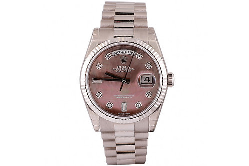 Rolex Datejust 36mm Mother of Pearl Diamond Dial & White Gold