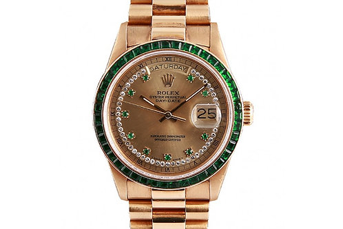 Rolex Day-Date President 36mm Yellow Gold & Emerald
