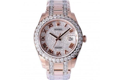 Rolex Pearlmaster Diamond Dial 39mm Rose Gold & Diamonds