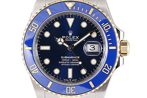 Rolex Submariner Steel & Yellow Gold Blue 41mm