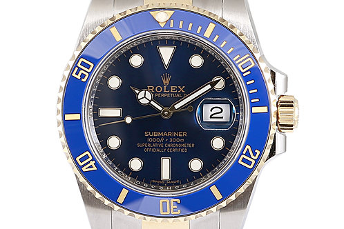 Rolex Submariner Blue 41mm Steel and Yellow Gold