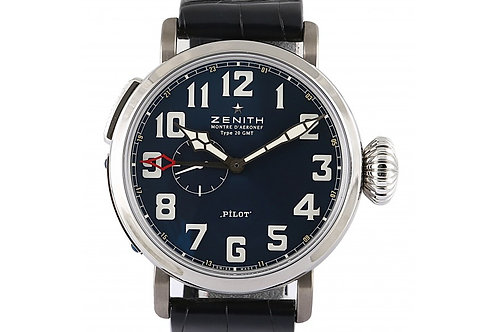Zenith Pilot Type 20 GMT 150th Anniversary Blue Dial 48mm Steel