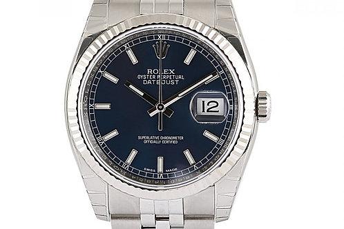 Rolex Datejust Blue Dial Steel 36mm
