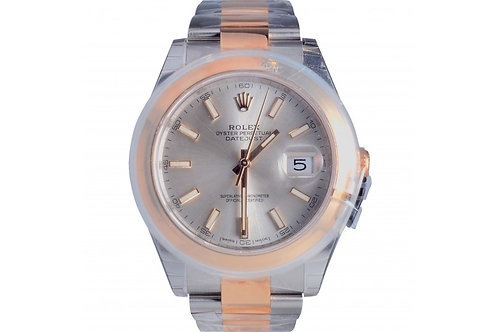 Rolex Datejust Silver Dial 41mm Steel & Yellow Gold