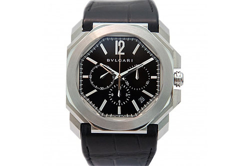 Bvlgari Octo L'Originale Black Dial 41mm Steel