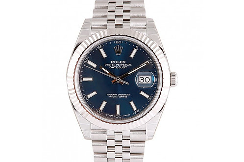 Rolex Datejust 41 Blue Dial Steel & White Gold