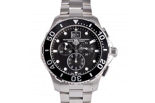 Tag Heuer Aquaracer Grande Date Chronograph Black Dial 43mm Steel