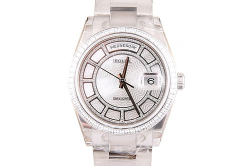 Rolex Day-Date Diamond Dial 36mm White Gold
