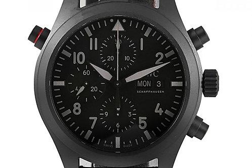 IWC Pilot Double Chronograph Black Dial 44mm Ceratanium
