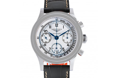 Longines Heritage Chronograph White Dial 40mm Steel