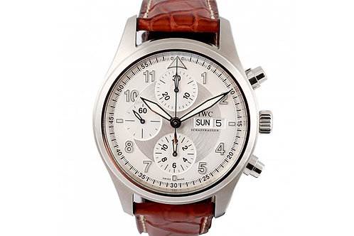 IWC Spitfire Chronograph Silver Dial 42mm Steel