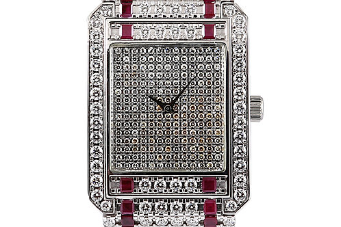Piaget Protocole XL White Gold with Aftermarket Diamonds and Ruby