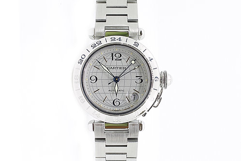 Cartier Pasha GMT White Dial Steel 35mm