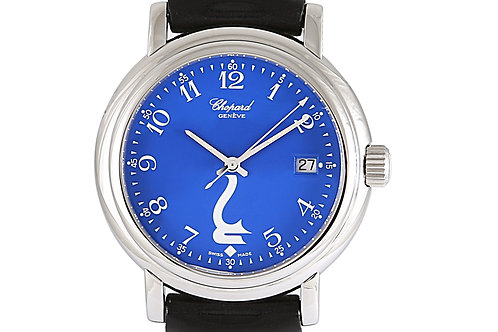 Chopard Godolphin Steel with Blue Dial and Leather Strap 39mm