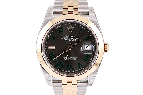 Rolex Datejust Grey Roman Dial 41mm Steel & Yellow Gold