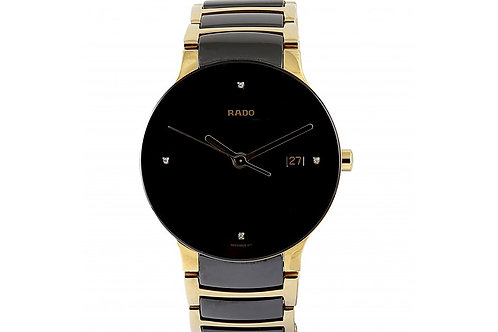 Rado Centrix Black Dial 38mm PVD Steel & Ceramic