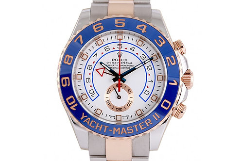 Rolex Yacht-Master II White Dial 44mm Steel & Rose Gold