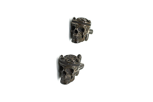 Knight Rider Guardians Mens Silver Cufflinks Skull