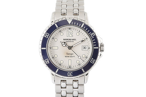 Raymond Veil Tango Collection Steel with White Dial