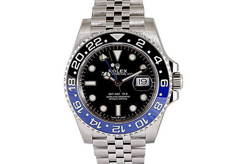 "Rolex GMT-Master II "" Batman"" Black Dial 40mm Steel"