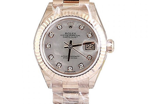 Rolex Datejust Mother of Pearl Diamond Dial 28mm Rose Gold