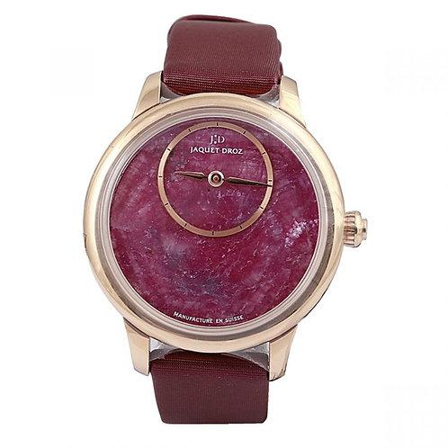 Jaquet Droz Petit Heure Minute Red Astorite Dial 35mm Rose Gold