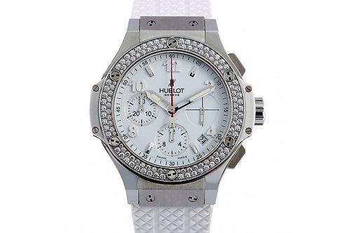 Hublot Big Bang White Dial 41mm Steel & Diamonds