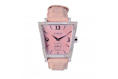 Corum Trapeze Pink Mother of Dial 36mm Steel & Diamonds