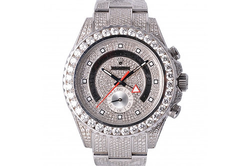 Rolex Yacht-Master II White With Diamond Dial 44mm Steel & Diamonds