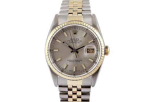 Rolex Datejust Steel and Gold Jubilee Bracelet with Silver Dial 36mm