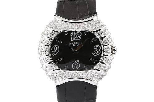 Montreux Black Dial with Diamond Case
