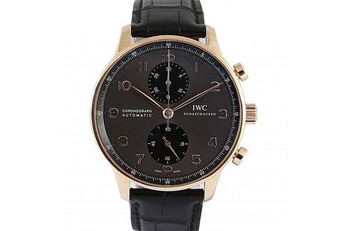 IWC Portuguese Chronograph Slate Grey Dial 40.9mm Rose Gold