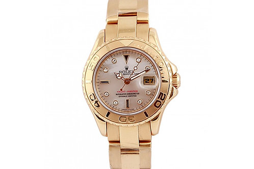 Rolex Yacht-Master Mother of Pearl Diamond Dial 29mm Yellow Gold