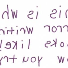 De ce scriu copiii in oglinda?
