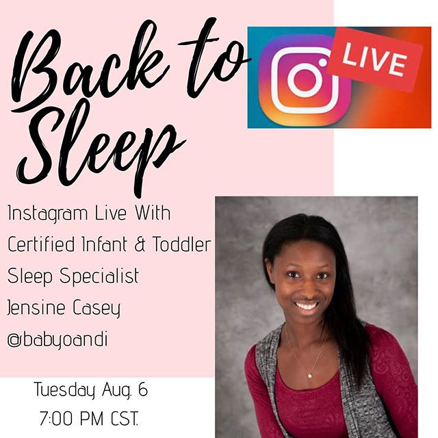Back To Sleep Instagram Live Chat