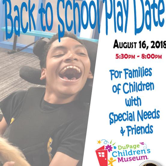 Back To School Special Needs Playdate