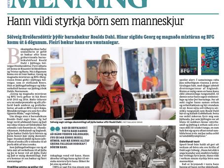 Viðtal Fréttablaðsins við þýðanda Roalds Dahl á Íslandi