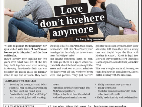 Newspaper Article: Love don't live here anymore