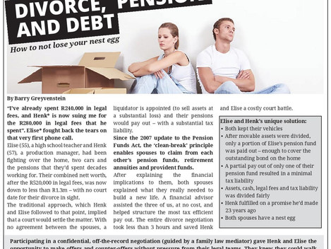 Divorce, Pension and Debt