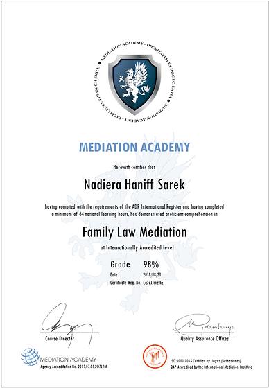Sarek, Nadiera Haniff - 64h Family Law M