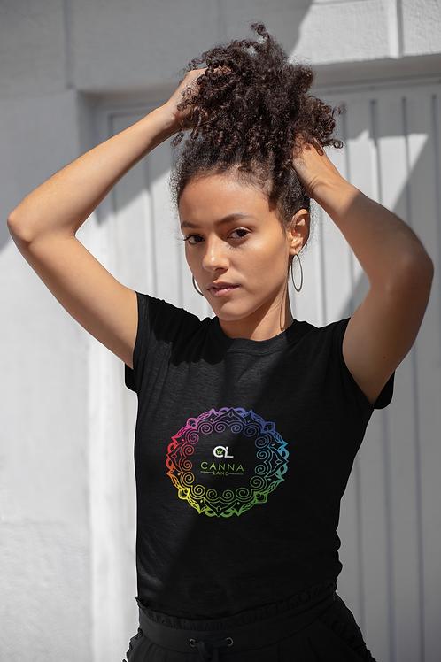 Canna Land Terp Wheel Mandala - Black T-shirt