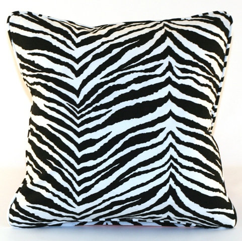 Zebra Throw Pillow Cover