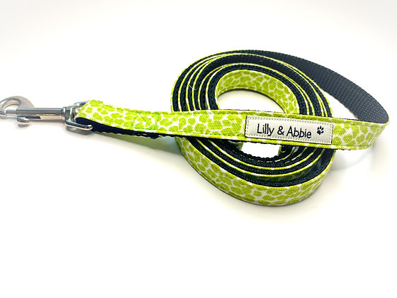 Dog Leash - Green Leopard