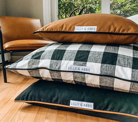 DESIGNER DOG BED PILLOWS