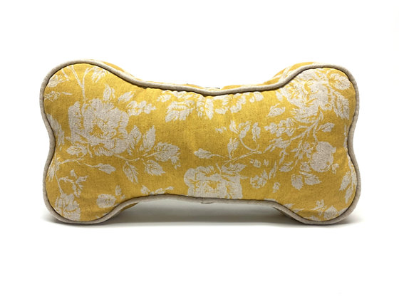 Dog Bone Pillow - Mustard Yellow