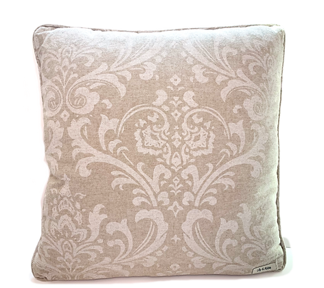 Beige Ozborne Throw Pillow Cover