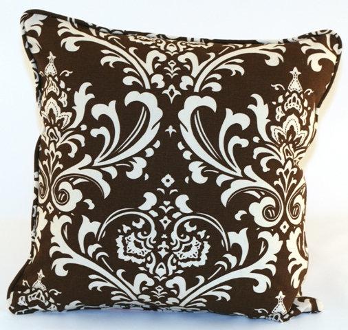 Ozborne Brown Throw Pillow Cover