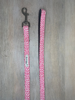 Dog Leash - Pink Leopard