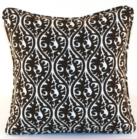 Dark Brown Throw Pillow Cover