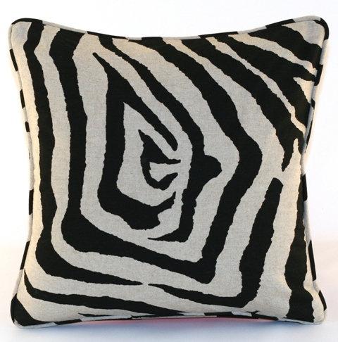 Black Tiger Throw Pillow Cover